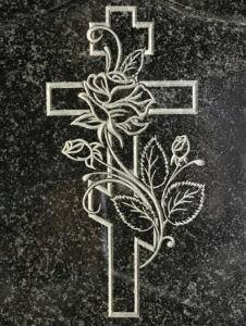 Гравировка креста