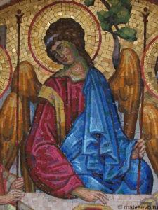 Мозаичная икона на памятник