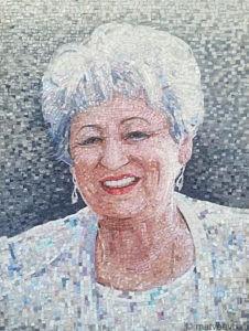 Портрет из мозаики на памятник