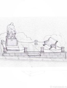Эскиз надгробия