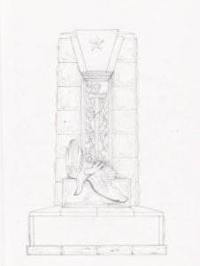 Эскиз памятника ВОВ