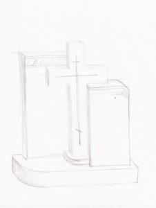 Эскиз памятника в восточном стиле