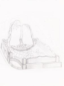 Памятник с березой