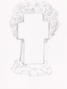 Памятник с крестом жизни