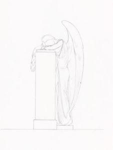 Памятник со скорбящим ангелом