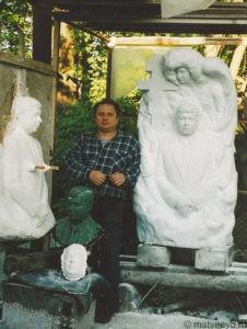 Изготовление скульптуры из мрамора
