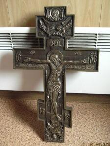Большой крест из бронзы