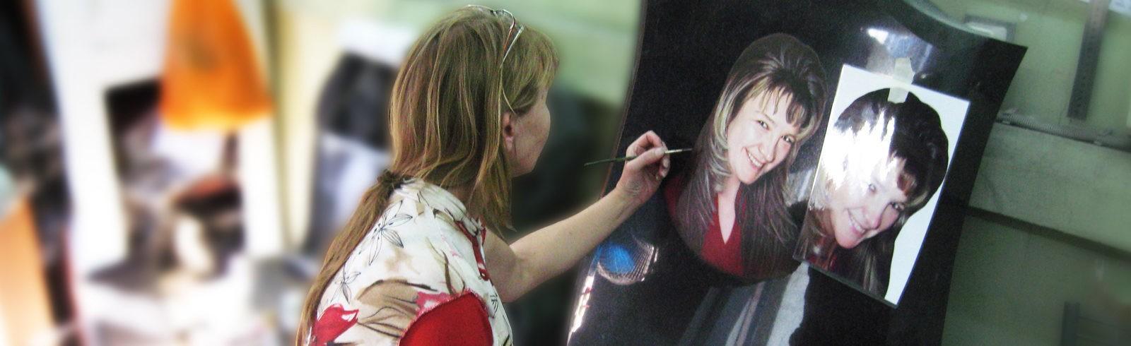 Живописный портрет на памятнике